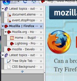 pestañas con rayas verticales en los navegadores