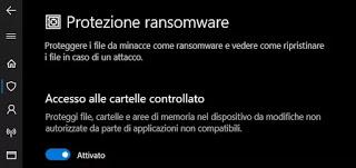 Protección contra ransomware Windows Defender