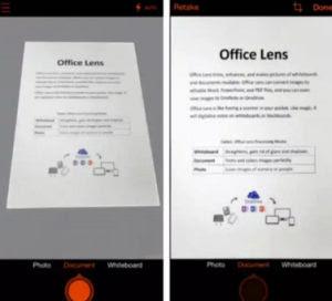 OCR para escaneos de Office Lens para convertir hojas escritas