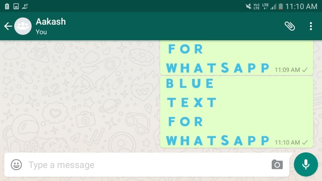 ¿Cómo escribir texto colorido en WhatsApp? 1
