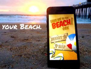 aplicación para uso en vacaciones junto al mar
