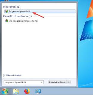 Programas predeterminados en Winodws 7