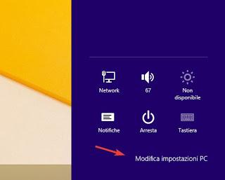 Cambiar la configuración de PC con Windows 8