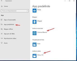 Aplicaciones predeterminadas en Windows 10