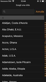 Zonas horarias en iPhone