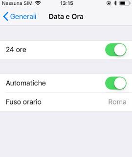 Zona horaria automática de iPhone