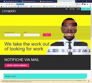 Sitio web Jobrapido