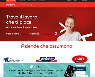 Sitio web de Adecco