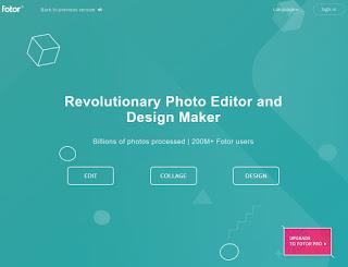 Sitio web de Fotor