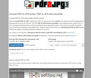 Sitio web PDF2JPG.net