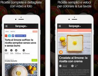 aplicación de cocina en páginas de fans