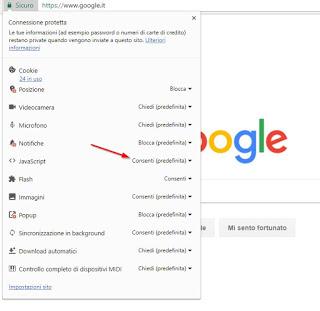Javascript Chrome