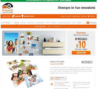Sitio web de PhotoSì