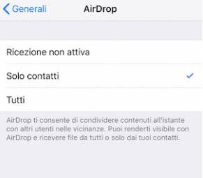 Compartir AirDrop