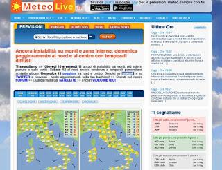 Sitio web de MeteoLive