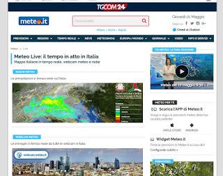 Sitio web Meteo.it
