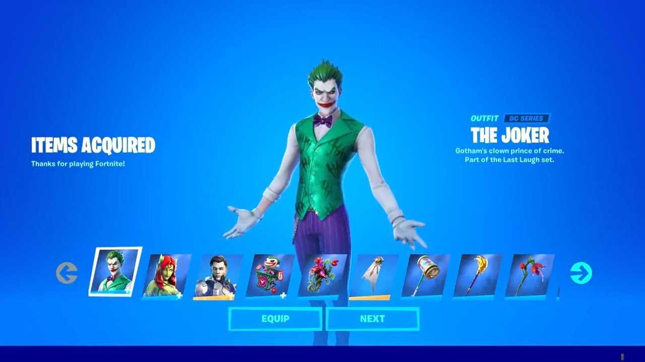 Fortnite: cómo obtener la piel de Joker