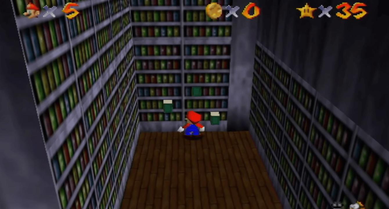 Super Mario 64: refugio de todas las estrellas del rey Boo
