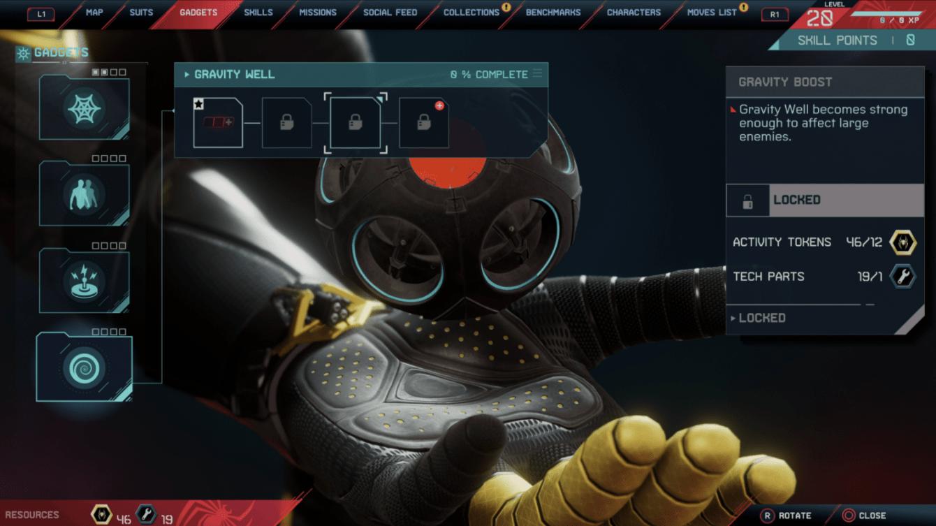 Spider-Man: Miles Morales, todos los gadgets y actualizaciones