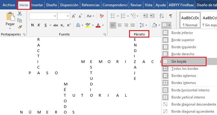 ¿Cómo crear rápida y fácilmente un crucigrama en Microsoft Word?  Guía paso a paso 7