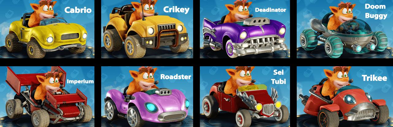 Crash Team Racing: Nitratos ¡cómo desbloquear todos los chasis!