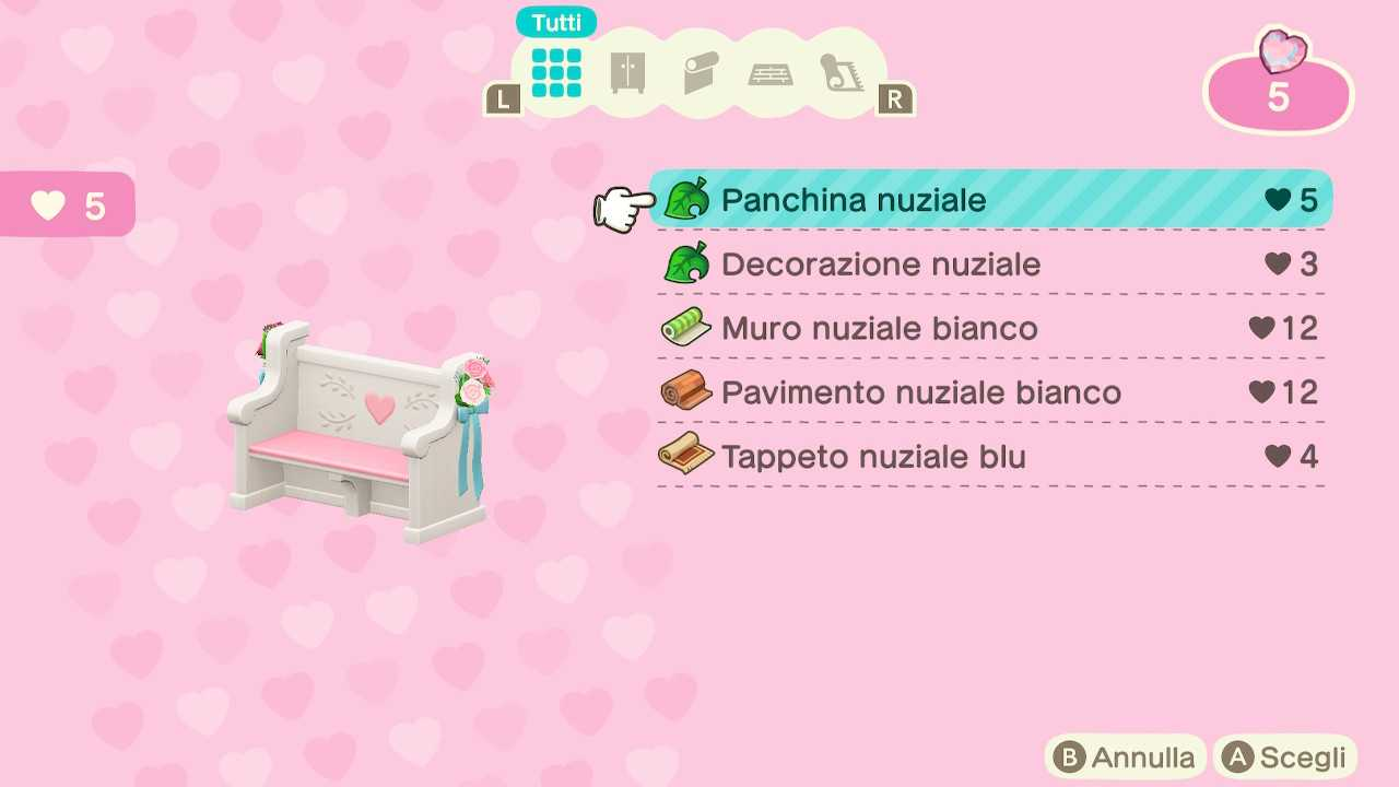 Animal Crossing: New Horizons, Guía de la temporada de bodas