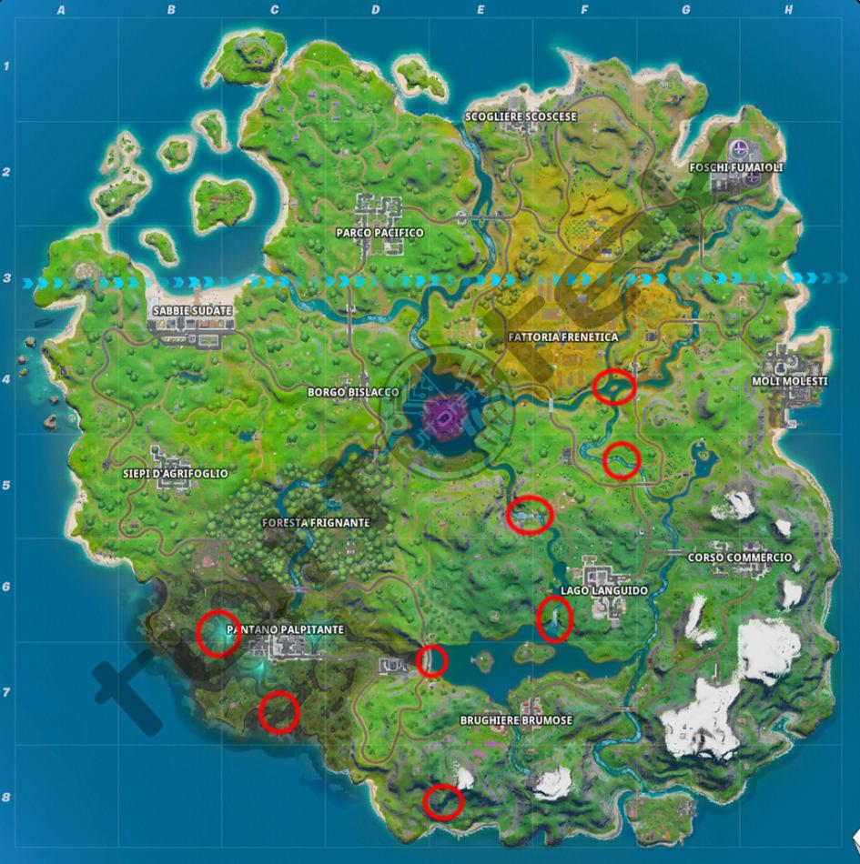 Fortnite: Guía de llamadas del Pacto Darsen Capitulo 2