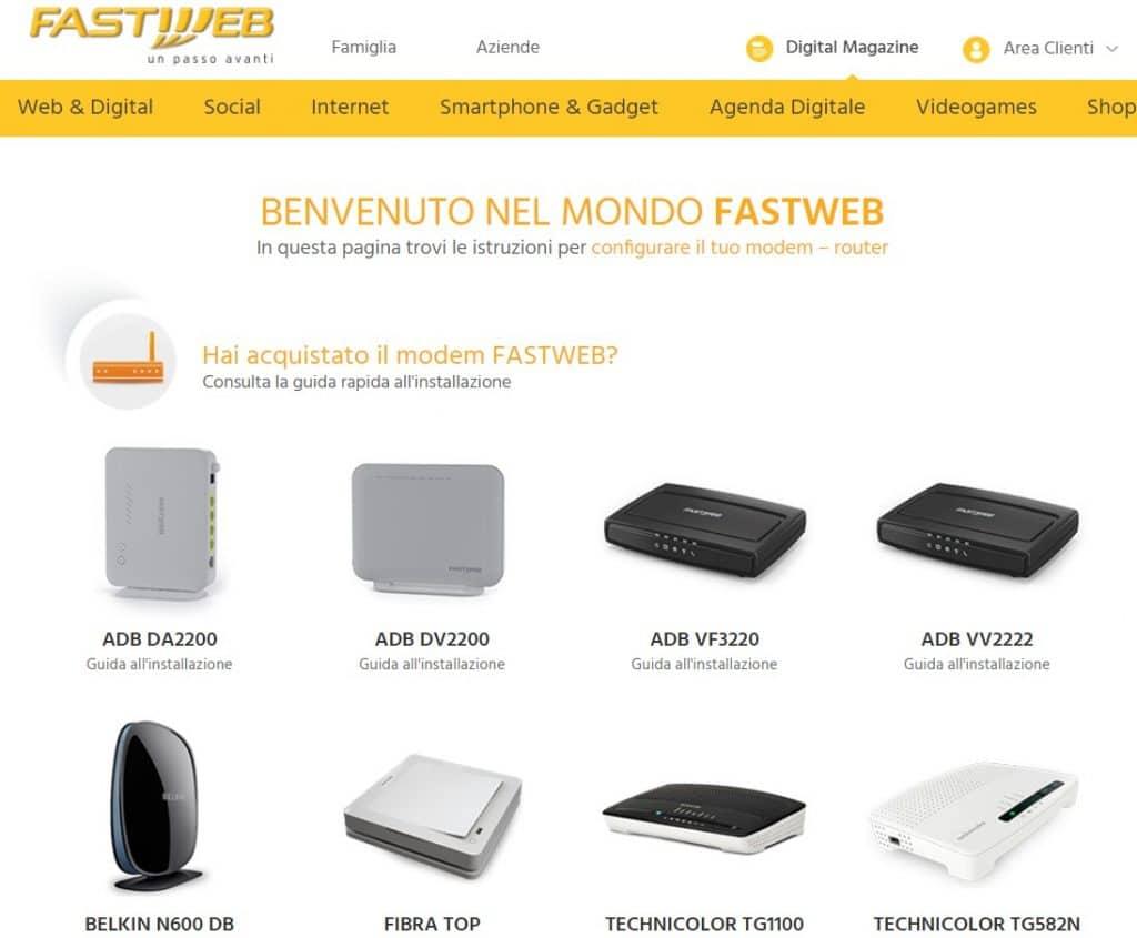 Contraseña del módem FastWeb
