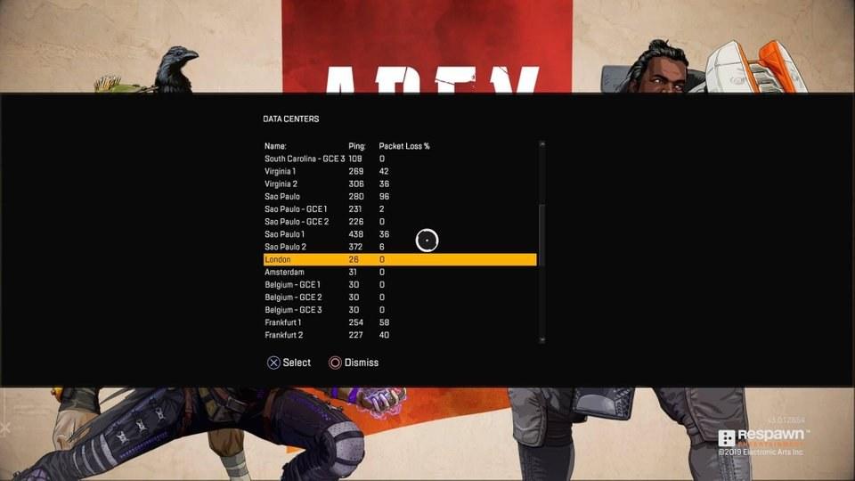 Apex Legends: cómo cambiar de servidor y reducir el retraso