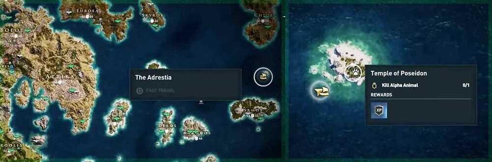 Assassin's Creed Odyssey: Cómo encontrar el tridente de Poseidón