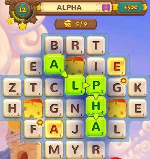 juego de palabras y letras