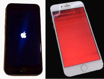 restaurar iPhone bloqueado pantalla rojo-azul