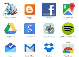 cada sitio como una aplicación web en el escritorio y en el menú de inicio