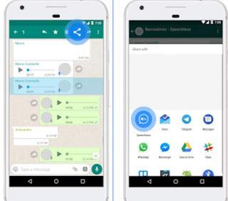 mensajes de voz para leer whatsapp