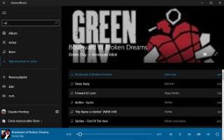 Aplicación Groove Windows 10