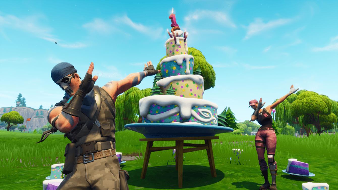 Fortnite: ahí es donde están todos los pasteles de cumpleaños