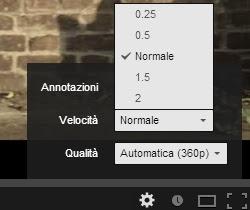 Cambio de velocidad de YouTube