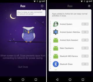 optimización de la batería de Android