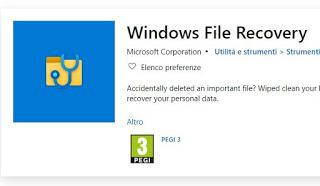 Aplicación de recuperación de archivos de Windows