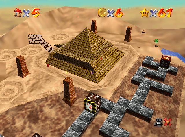 Super Mario 64: dónde encontrar estrellas en el desierto devorador