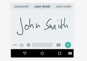 Android escrito a mano