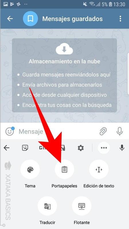 aqui esta el texto copiado en el portapapeles de android donde termina