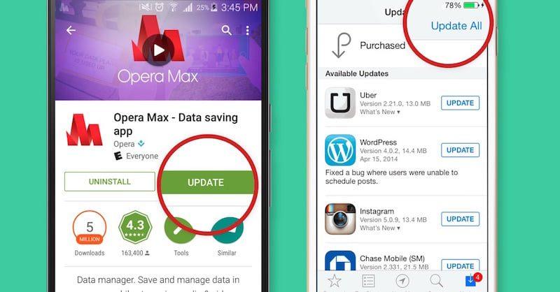 como actualizar aplicaciones en android