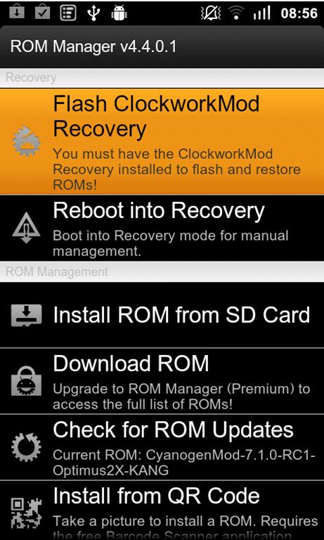 como cambiar el firmware usando rom manager y como funciona en android