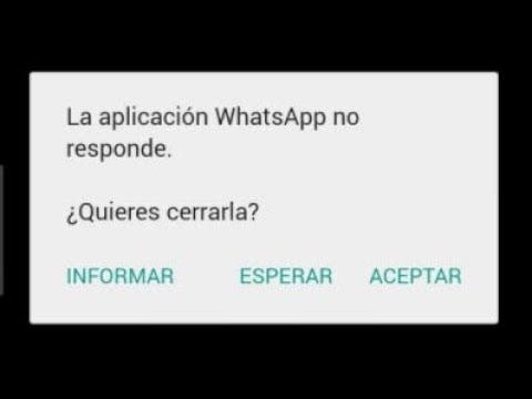 como corregir el error lo siento whatsapp se ha detenido en android
