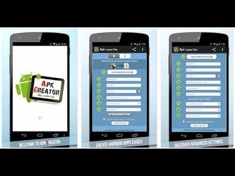 como crear una aplicacion de android con apkcreator