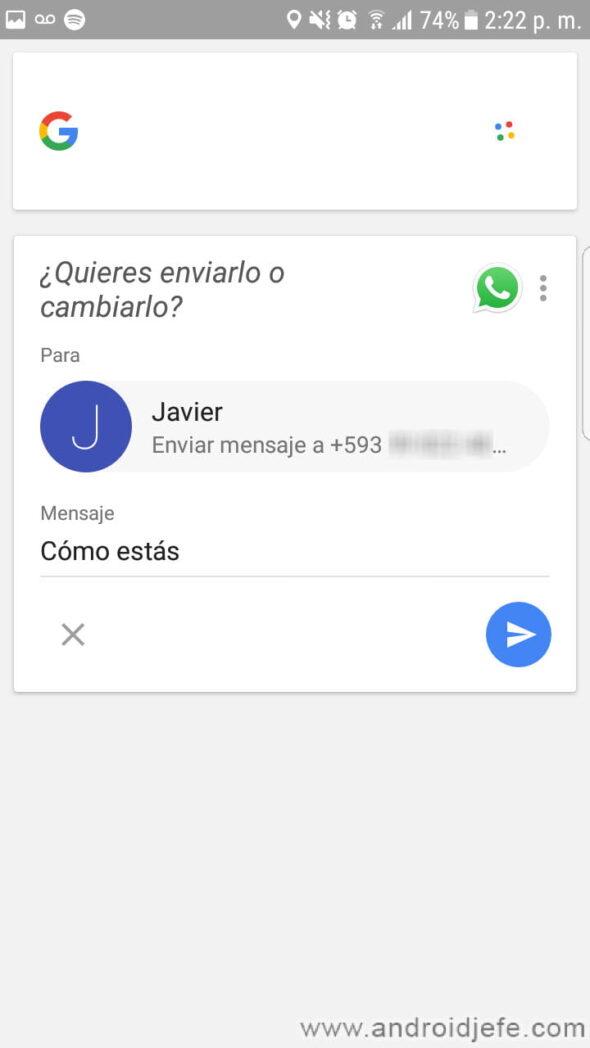 como dictar mensajes sms y textos generales en android