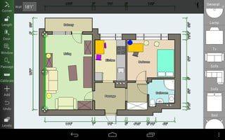 como disenar un hogar android con la aplicacion floor plan creator