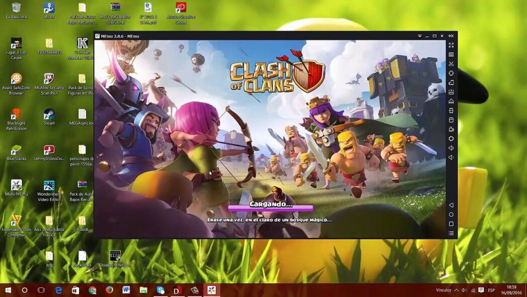 como jugar clash of clans para android con windows pc y sin bluestacks