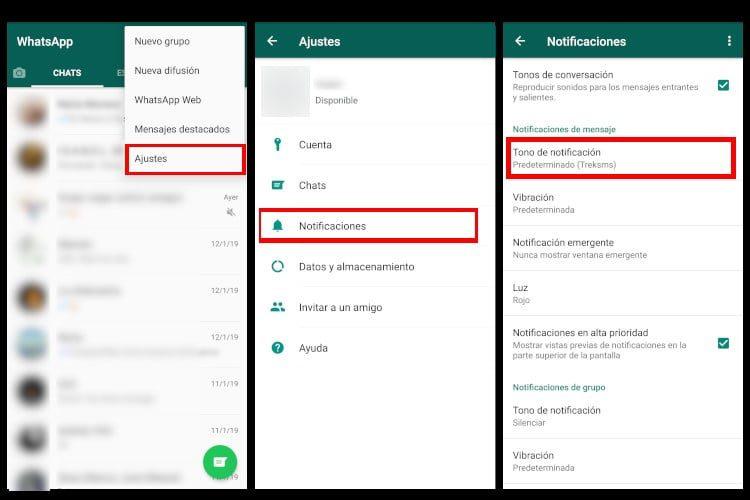 como personalizar el tono de llamada de whatsapp para cada contacto en android